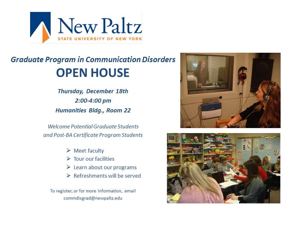 Grad program open house announcement
