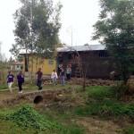 Rebecca and students - New Deaf room at Yekatit 23 School
