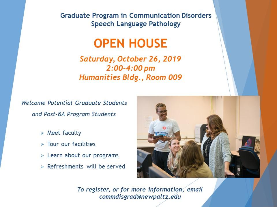 Graduate Program 2019 Open House announcement