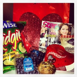 Goodie bag with all of my favorite stuff