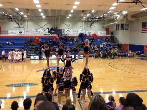 Hawks cheerleaders - SUNY's Athletic Center