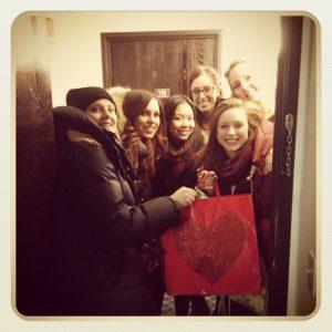 Goodie bag surprise by Therese, Patrizia, Katherine, Maja, Petronella and Daniela