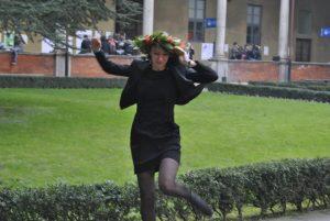 Jumping in the University garden