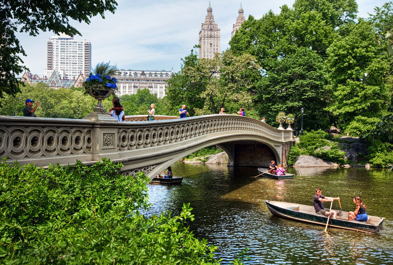 Bow Bridge im Central Park, Manhattan, New York City, New York, USA