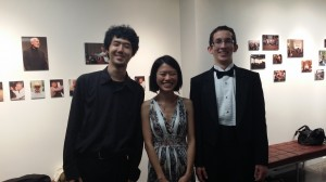 L to R - Ryo Kaneko, Hui Shan Chin, Andrew Boyle