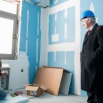 Assembly member and alumnus tours campus construction