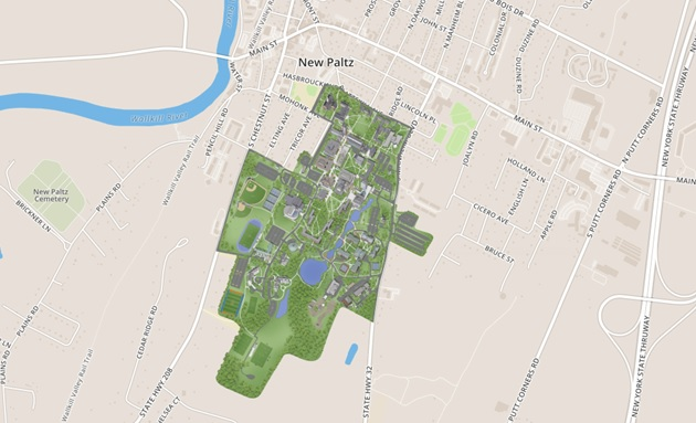 Suny New Paltz Campus Map New online campus map launched – SUNY New Paltz News