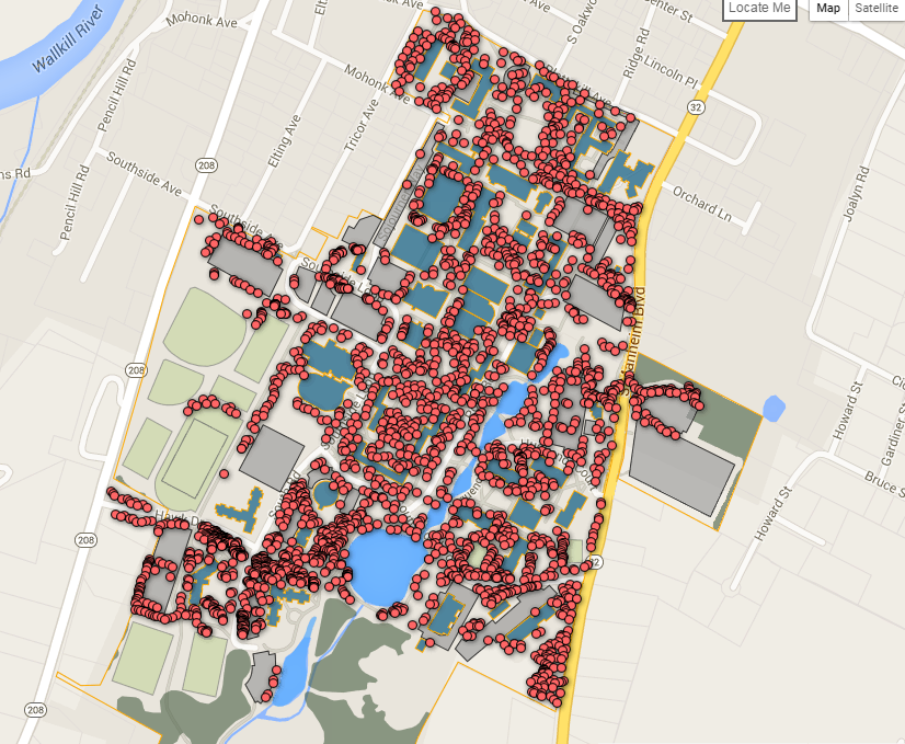 Suny New Paltz Campus Map New interactive map brings campus trees to your desktop – SUNY New