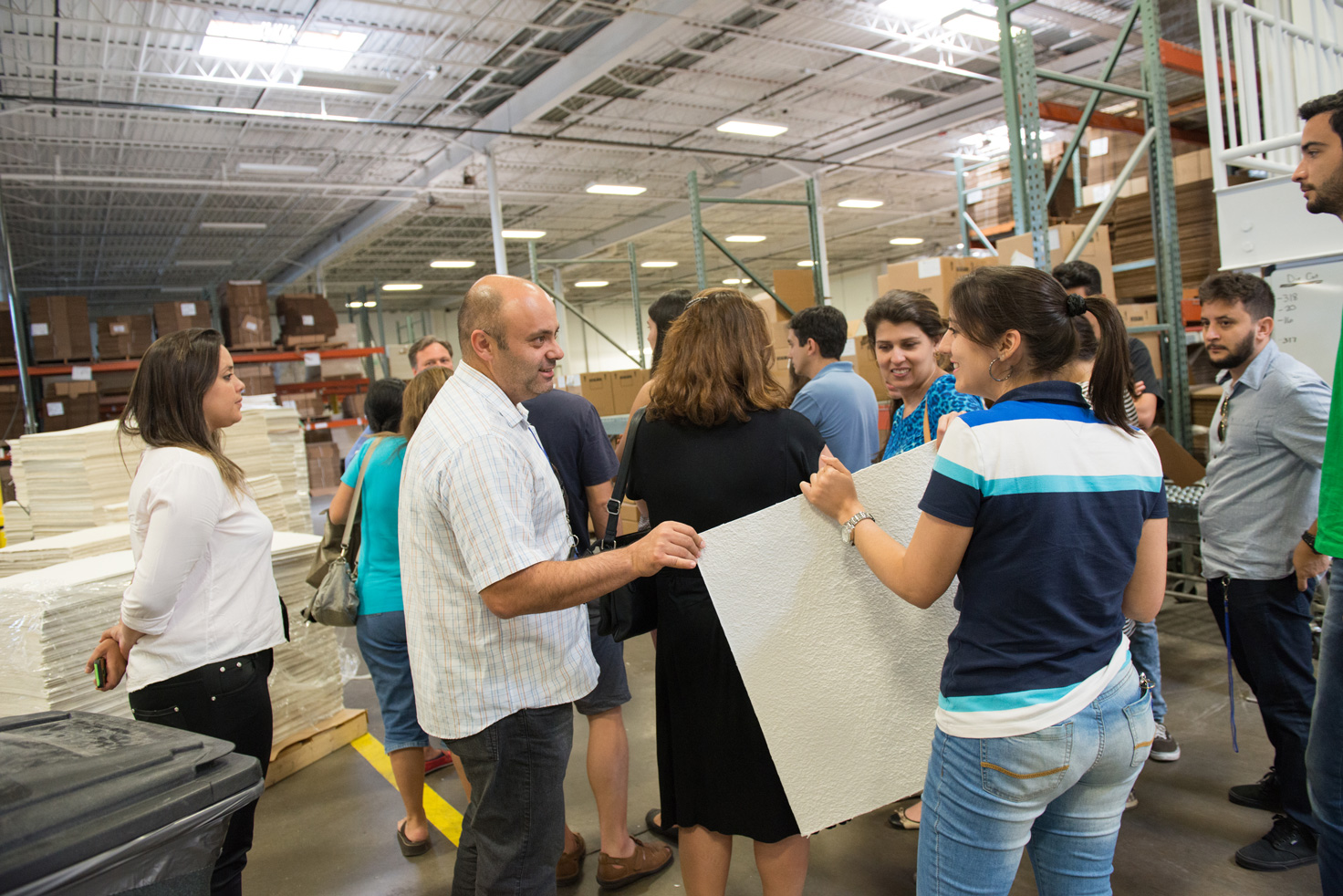 IIB students tour manufacturing facility at ErtelAlsop in Kingston, N.Y.