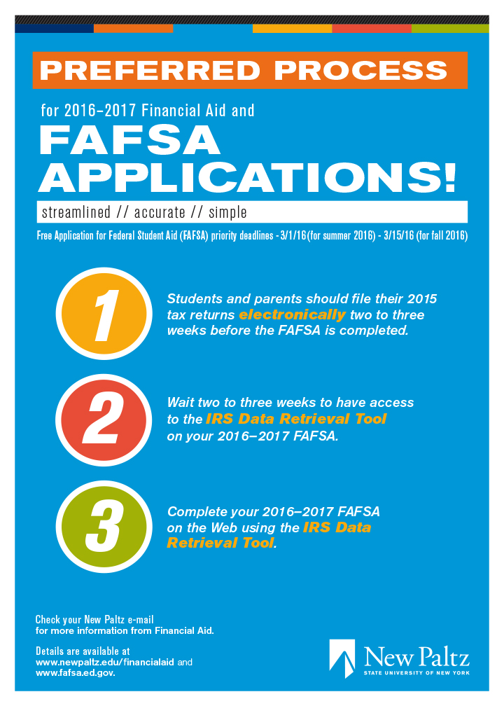 Preferred 2016-2017 Financial Aid Process and Priority Filing ...