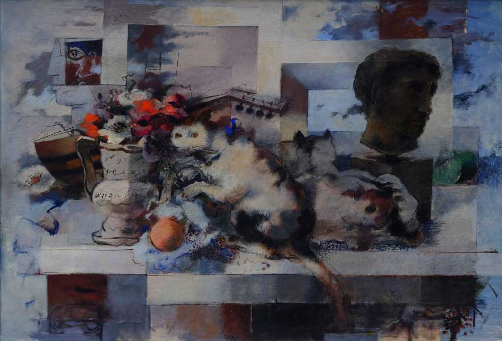 Bradley Walker Tomlin, Still Life (Outward Preoccupation), 1939–1942. Oil on canvas, 33 ½ x 44 ½ in. Sarah Lawrence College, Gift of the Mary Livingston Griggs and Mary Griggs Burke Foundation, 2015