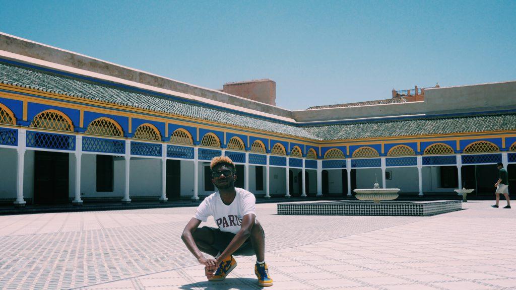 Xavier at Palais Bahia in Marrakesh, Morocco
