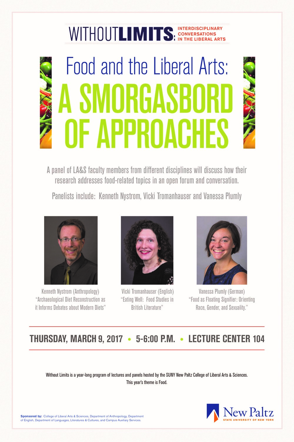 """Without Limits speaker series brings """"Food and the Liberal"""