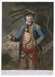 A print of Arnold after the Quebec campaign of 1775/76