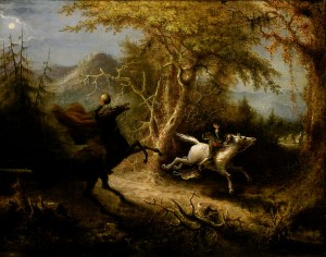 John_Quidor: Headless Horseman Pursuing Ichabod Crane (Smithsonian)