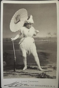 Lydia Thompson, Queen of Burlesque, as Robinson Crusoe