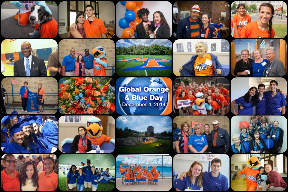 Global Orange and Blue