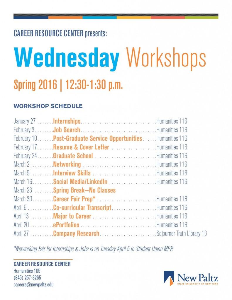 Wednesday Workshops - Spring 2016 Design