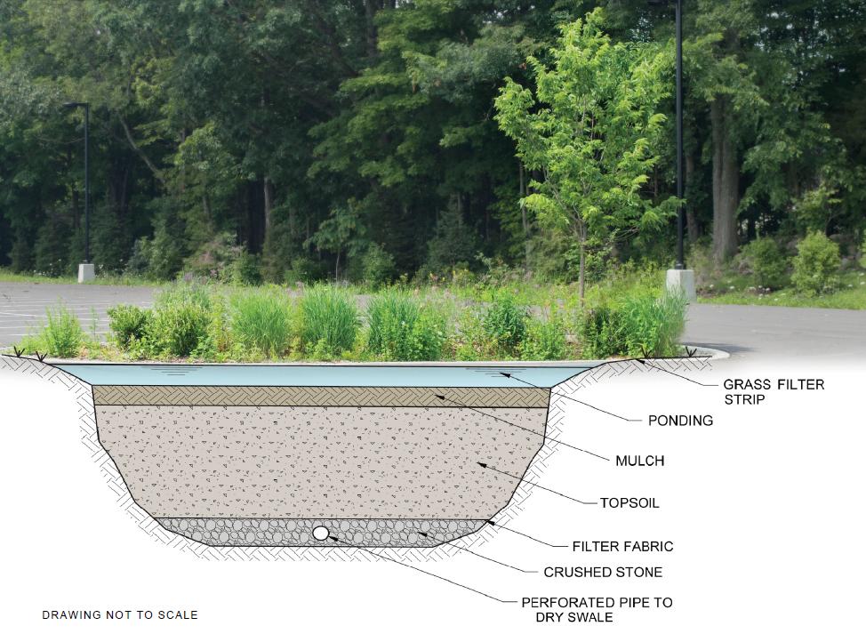 Bioretention Area - Above and below grade